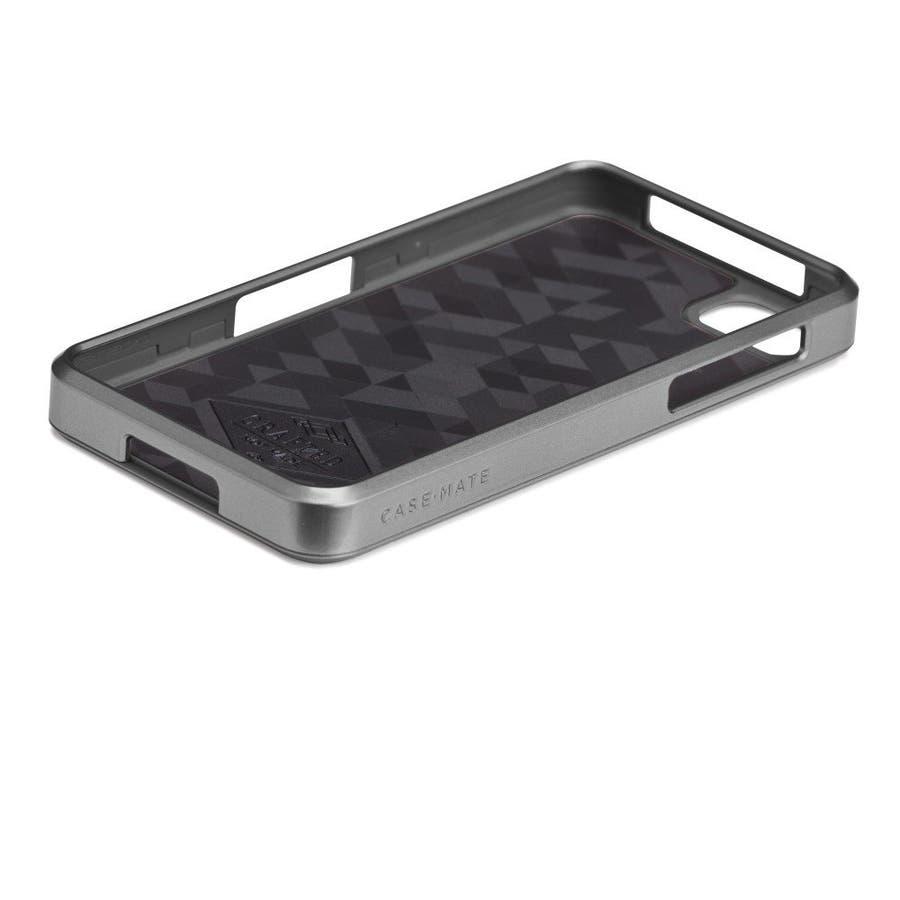 BlackBerry Z10 対応ケース FAUX Brushed Aluminum Effect Case, Silver 4