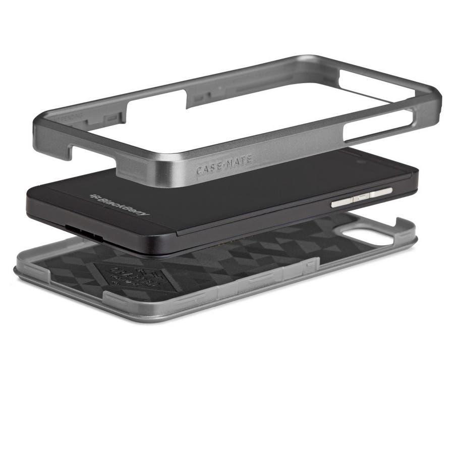 BlackBerry Z10 対応ケース FAUX Brushed Aluminum Effect Case, Silver 5