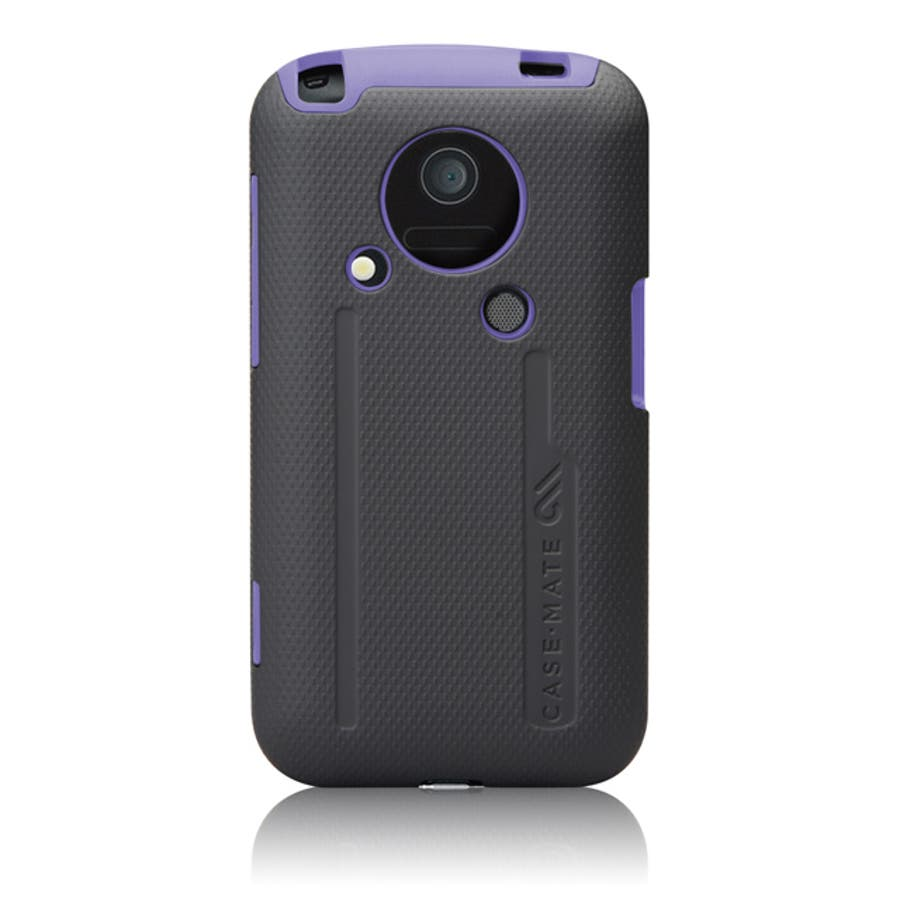 au IS03 Hybrid Tough Case with Screen Protector, Black / Purple 1