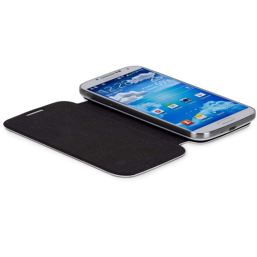 Galaxy S4 対応ケース Folio Uncover Style Case, White 3
