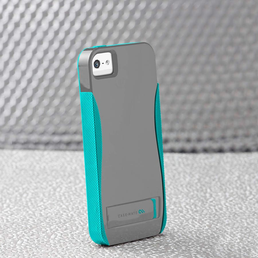 iPhone SE/5s/5 対応ケース POP! with Stand Case, Titanium Grey / PoolBlue 1
