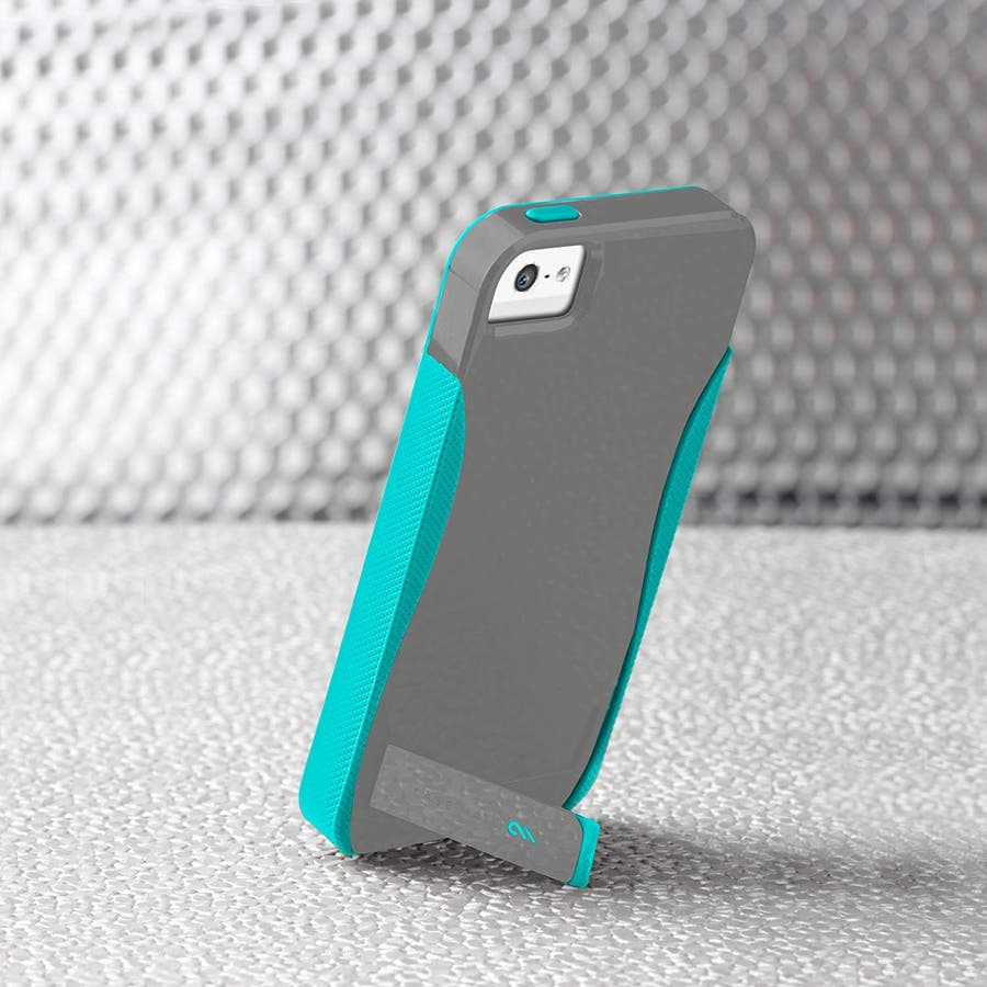 iPhone SE/5s/5 対応ケース POP! with Stand Case, Titanium Grey / PoolBlue 2