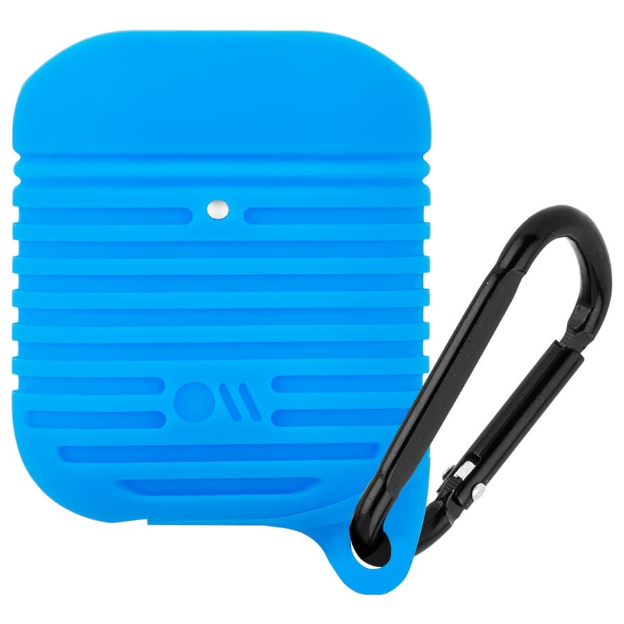 【AirPods 第1世代・第2世代・ワイヤレス充電OK・耐水】AirPods Water Resistant Case Blue 2