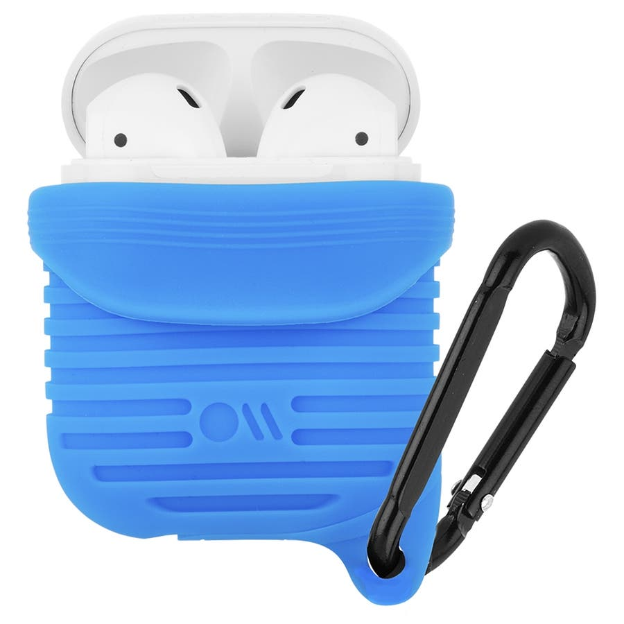 【AirPods 第1世代・第2世代・ワイヤレス充電OK・耐水】AirPods Water Resistant Case Blue 4