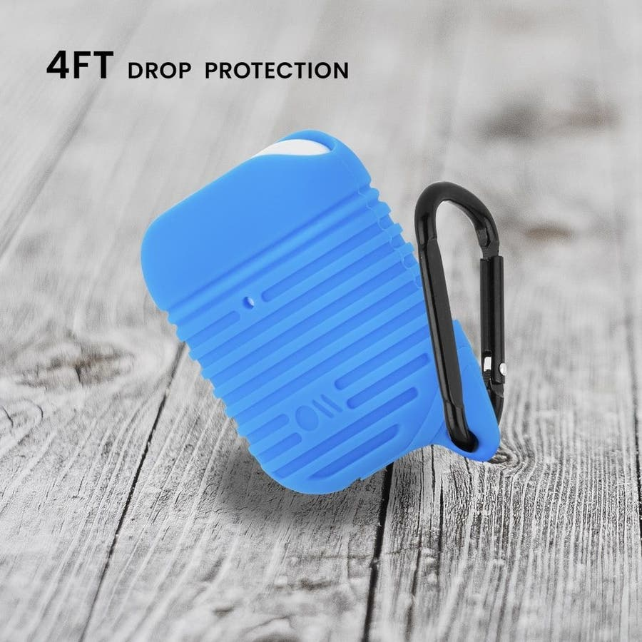 【AirPods 第1世代・第2世代・ワイヤレス充電OK・耐水】AirPods Water Resistant Case Blue 7