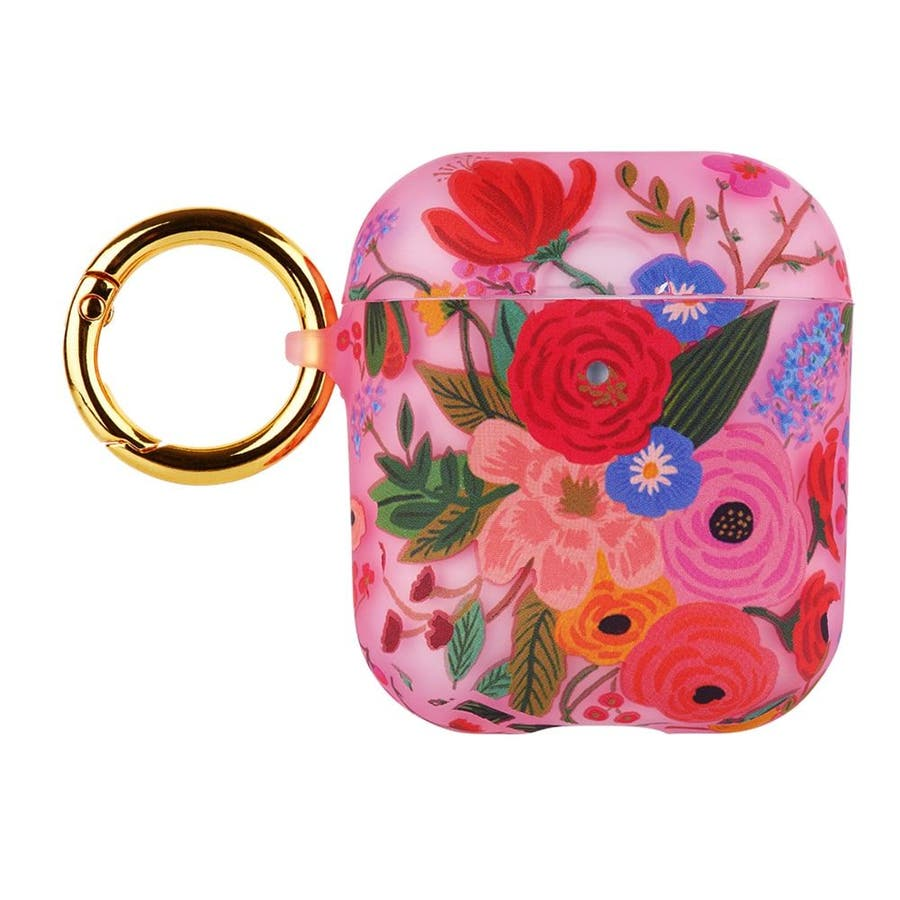 【AirPods 第1世代・第2世代・ワイヤレス充電もOK】 RIFLE PAPER Garden Party Blush 2