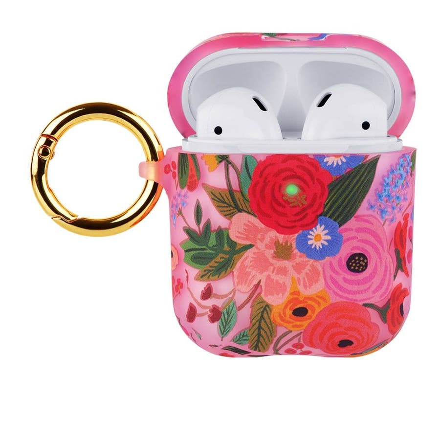 【AirPods 第1世代・第2世代・ワイヤレス充電もOK】 RIFLE PAPER Garden Party Blush 3