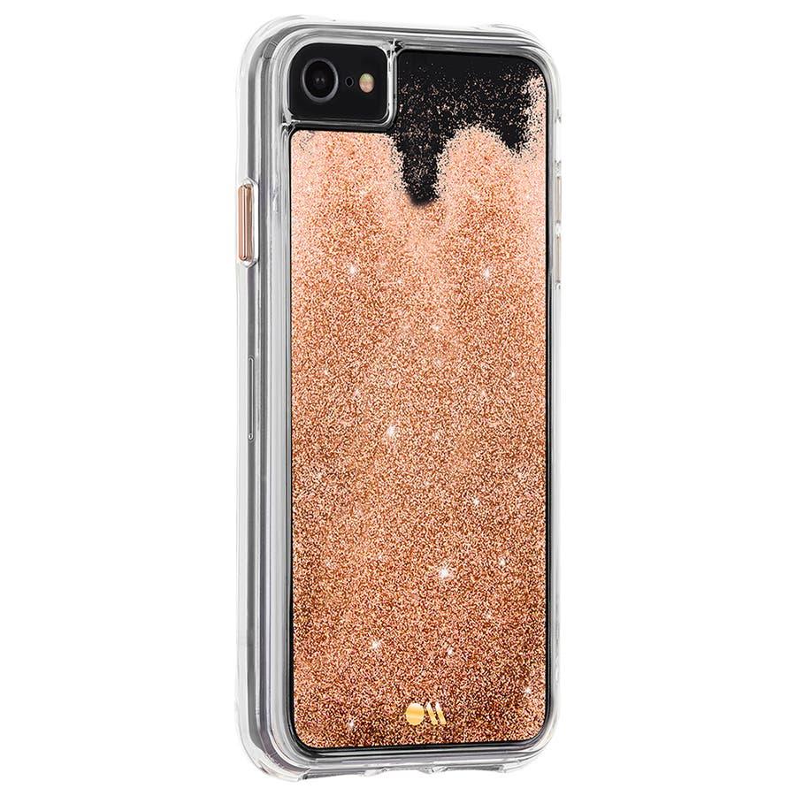 【iPhoneSE(第2世代) /8/7/6s/6対応 流れるラメが美しい】 Waterfall-Gold 3