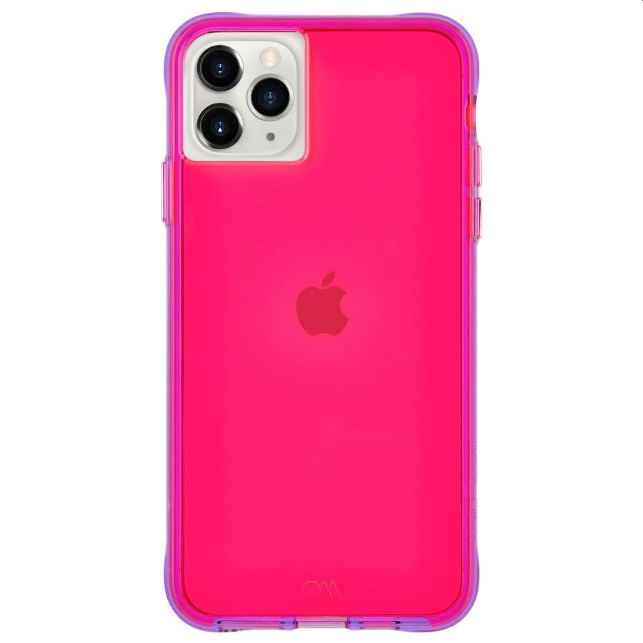 【ワールドワイドで大人気のネオンカラー】iPhone 11 Pro Case Tough NEON - Pink/Purple 1