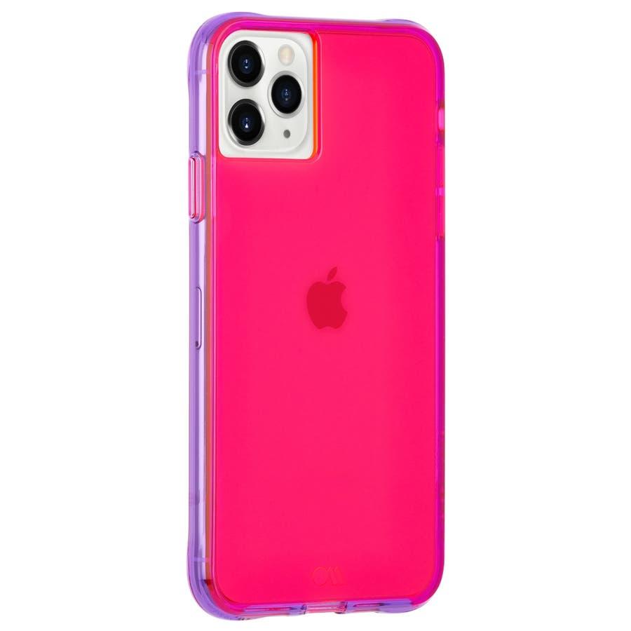 【ワールドワイドで大人気のネオンカラー】iPhone 11 Pro Case Tough NEON - Pink/Purple 2