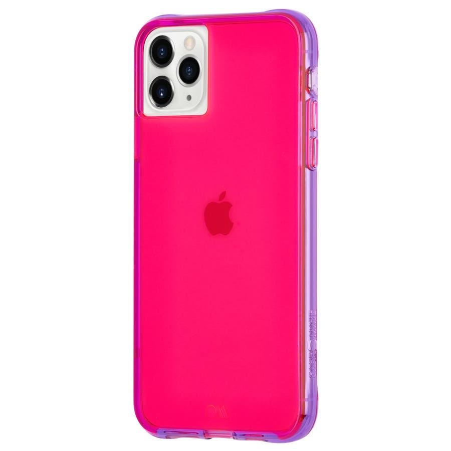 【ワールドワイドで大人気のネオンカラー】iPhone 11 Pro Case Tough NEON - Pink/Purple 3