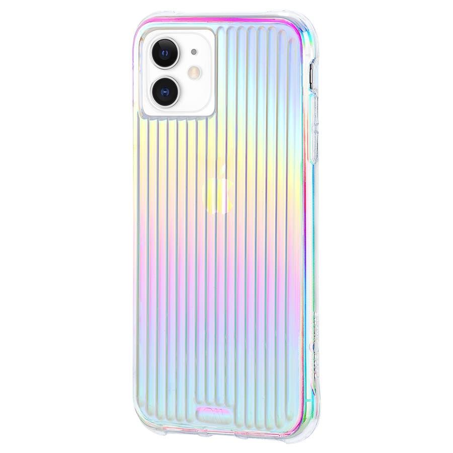 【キラキラと光るイリデセントカラー・握り心地◎】iPhone 11 / iPhone XR Case Tough Groove -Iridescent 3