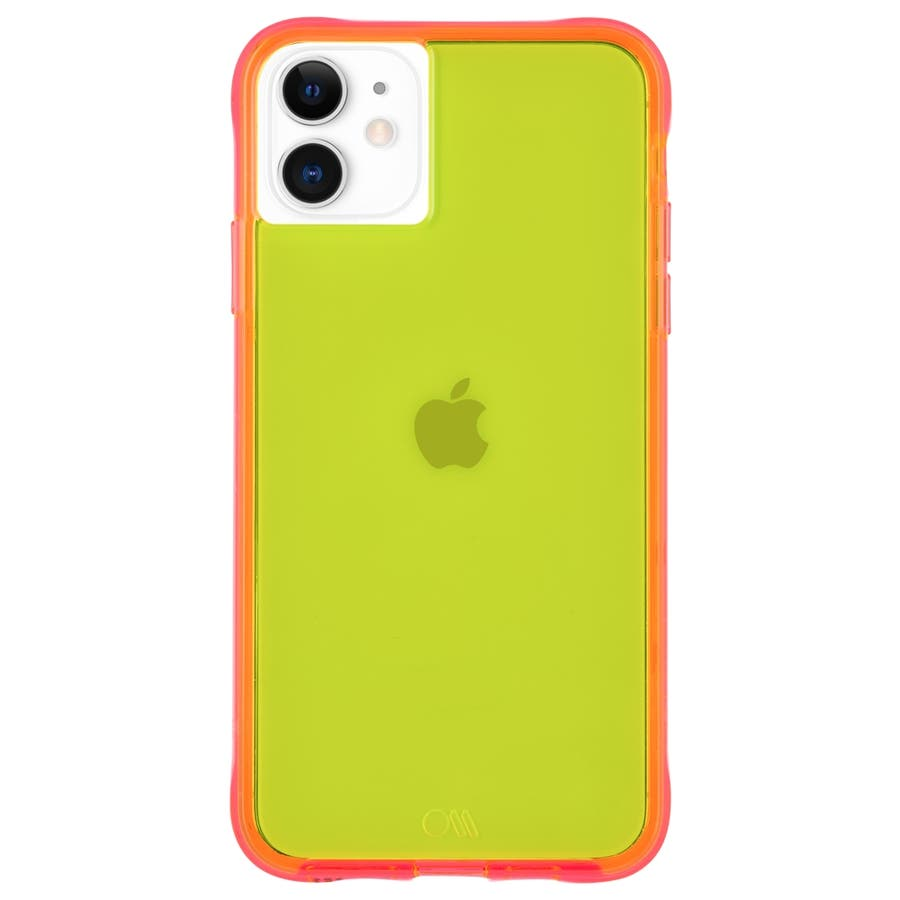 【ワールドワイドで大人気のネオンカラー】iPhone 11 / iPhone XR Case Tough NEON -Green/Pink 1