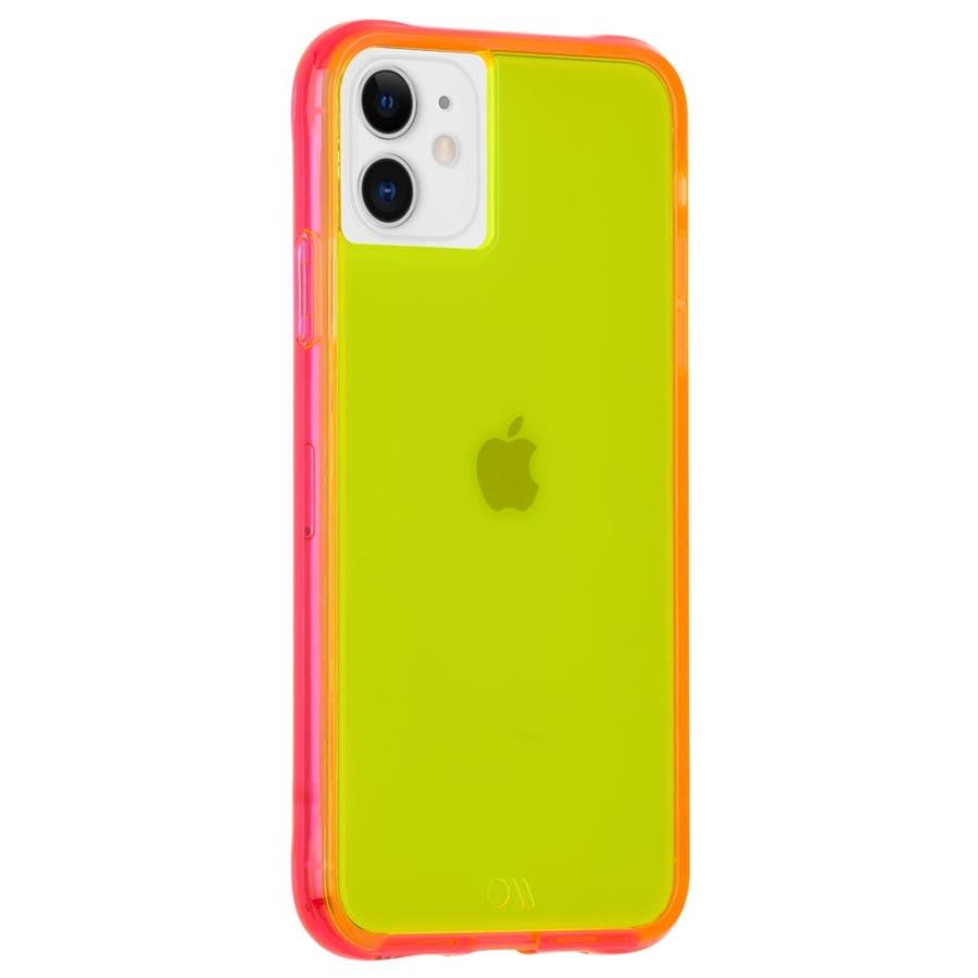 【ワールドワイドで大人気のネオンカラー】iPhone 11 / iPhone XR Case Tough NEON -Green/Pink 2