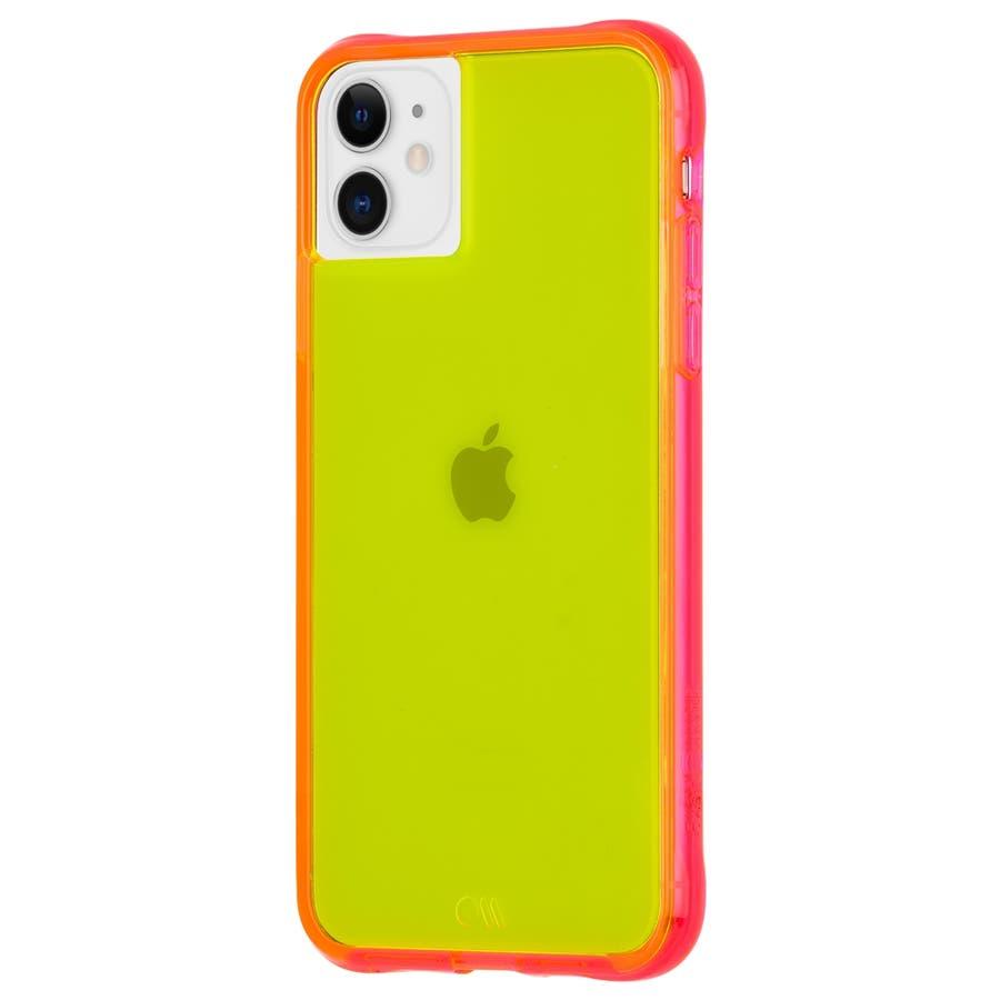 【ワールドワイドで大人気のネオンカラー】iPhone 11 / iPhone XR Case Tough NEON -Green/Pink 3