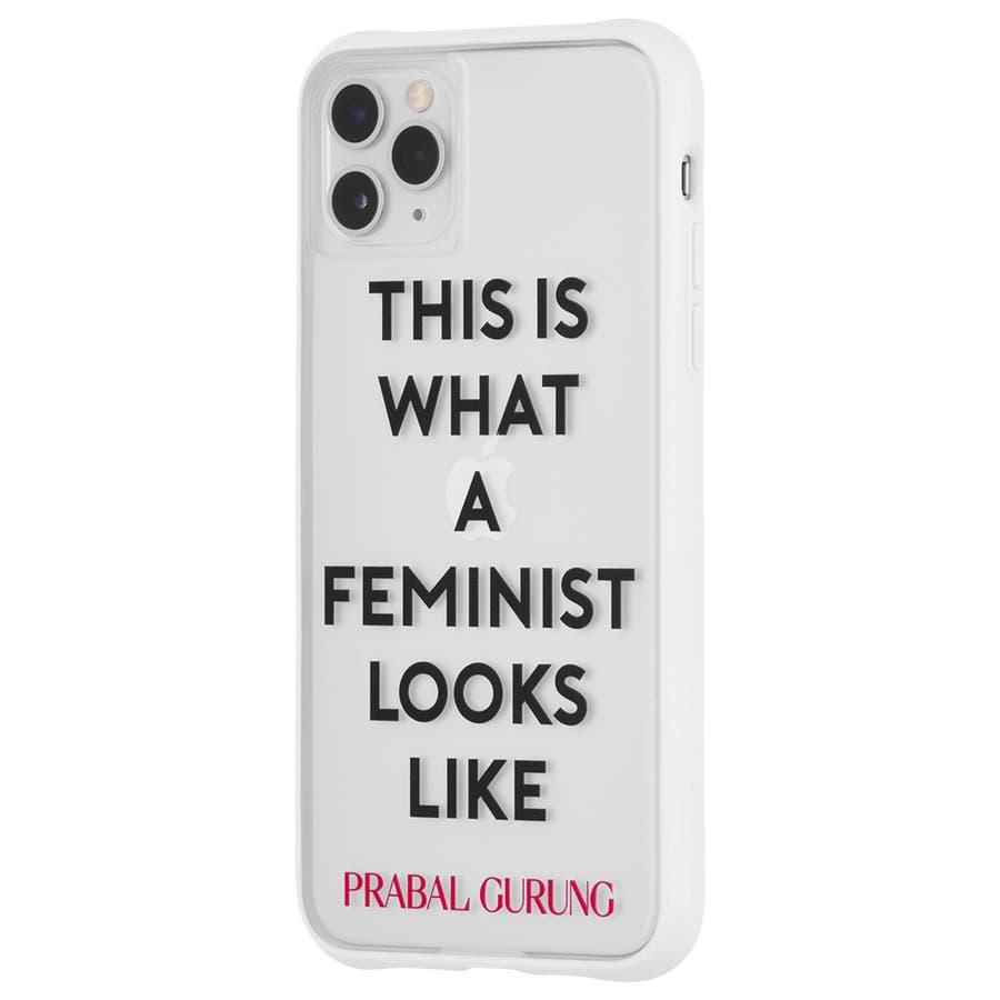 【世界のセレブが認めるデザイナー作品】iPhone 11 Pro Max Case PRABAL GURUNG ToughFeminist - White 3