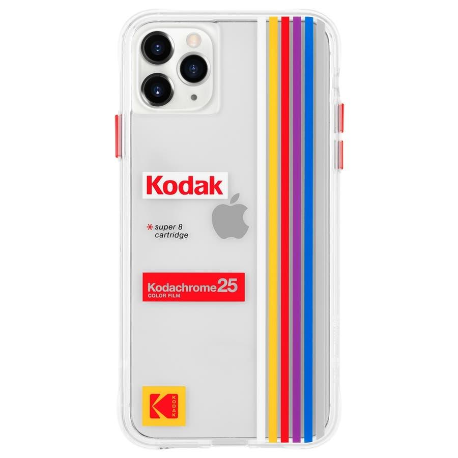 【Case-Mate×Kodak コラボ】iPhone 11 Case Kodak - Striped KodachromeSuper 8 1