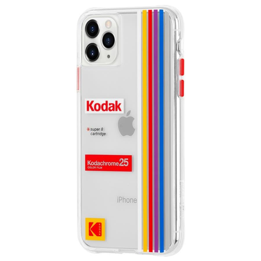 【Case-Mate×Kodak コラボ】iPhone 11 Case Kodak - Striped KodachromeSuper 8 3