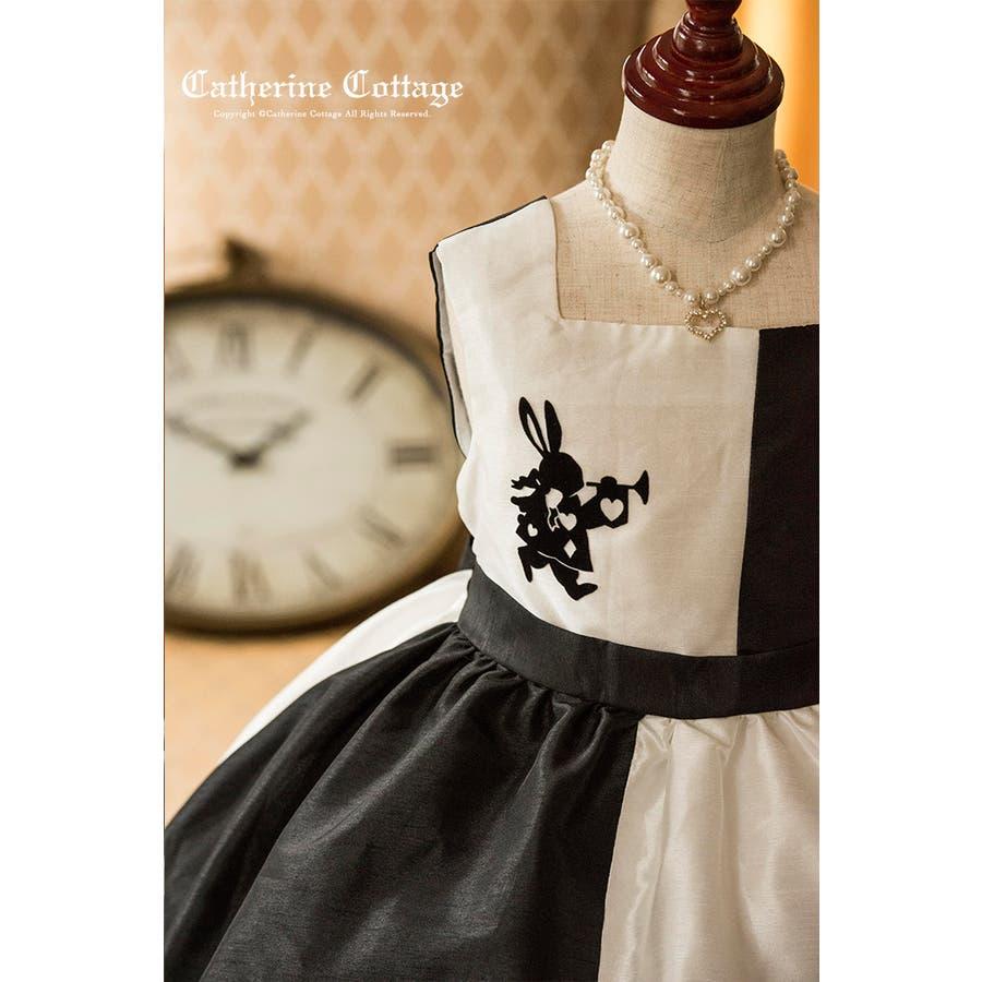 0f84fb03bf5df 子供ドレス アリスのモノトーン シャンタンバルーンスカートドレス 子供 ...