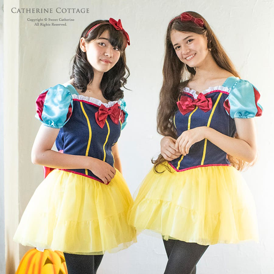 42550b22ad091 ハロウィン 仮装 衣装 大人用コスチューム 白雪姫風ワンピース レディース 大人 レディース 女性 コスプレ ハロウィーン