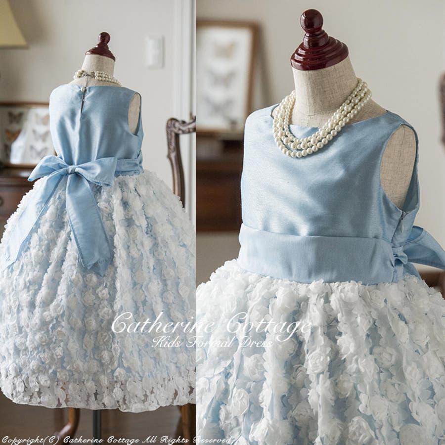 子供ドレス 子どもドレス 発表会 巻き薔薇のドレス [フォーマル キッズドレス ジュニア 発表