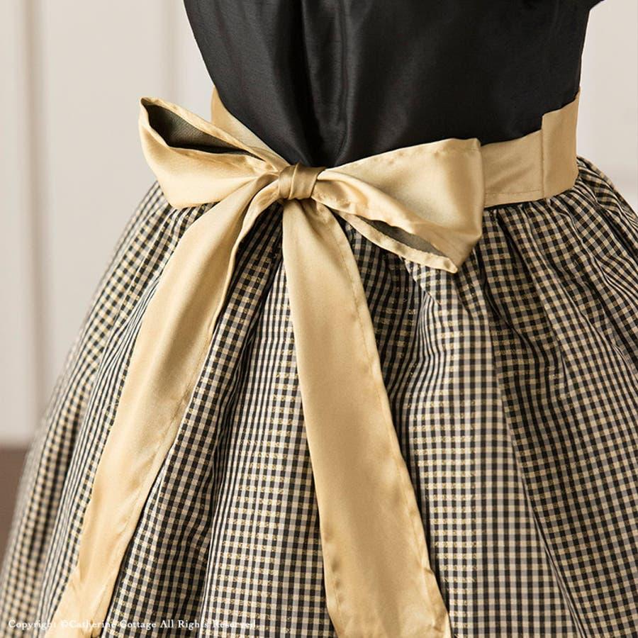 061e7f3fa61ec 子供ドレス 女の子 シャンタンラメチェックドレス   子供服 キッズ ...
