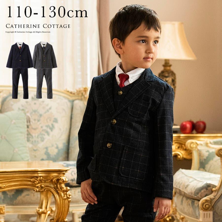 4e839a28d6612 スリムチェック柄スーツ6点セット ジャケット ロングパンツ シャツ ベスト