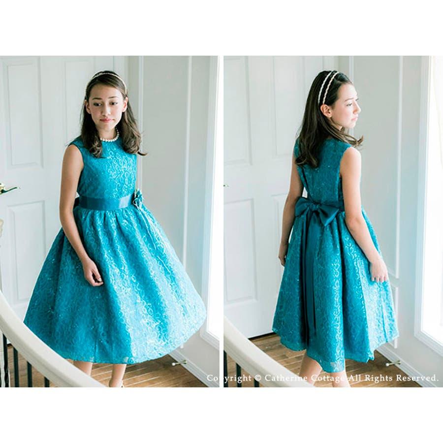 b96d8af4a1323 子供ドレス 令嬢テイストのアンティークレースドレス  中学生 ピアノの ...