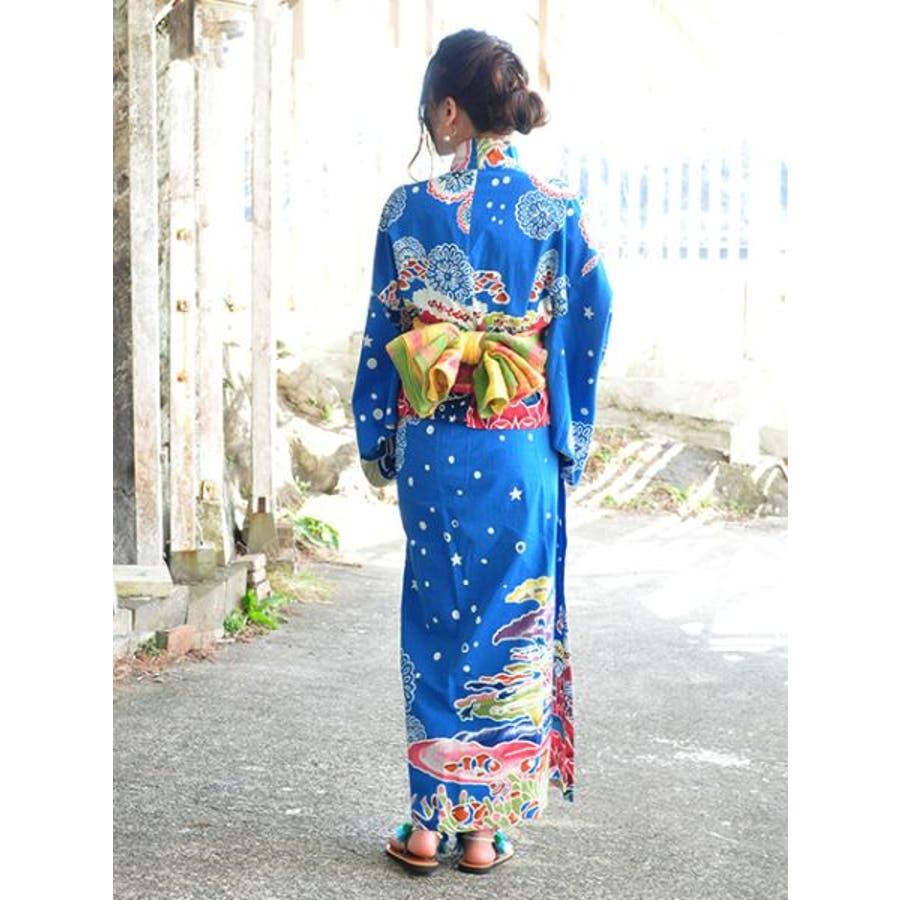 【チャイハネ】ボーンタイダイ浴衣帯 2