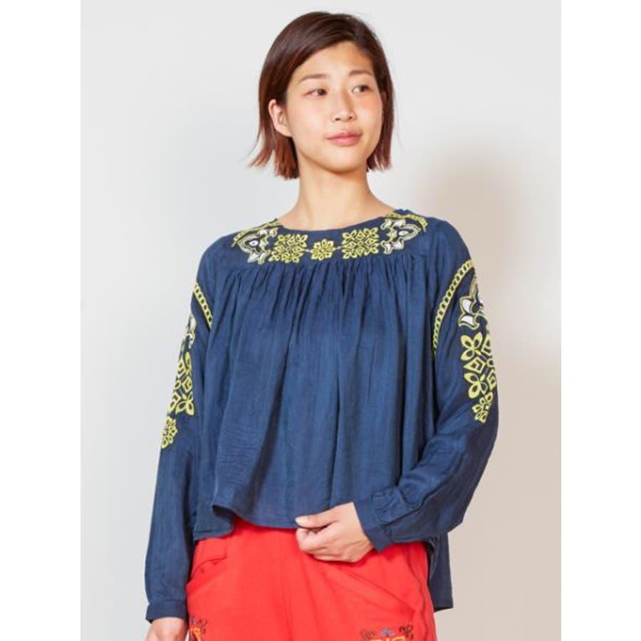 【チャイハネ】yul オリエンタル刺繍ブラウス2WAY 64