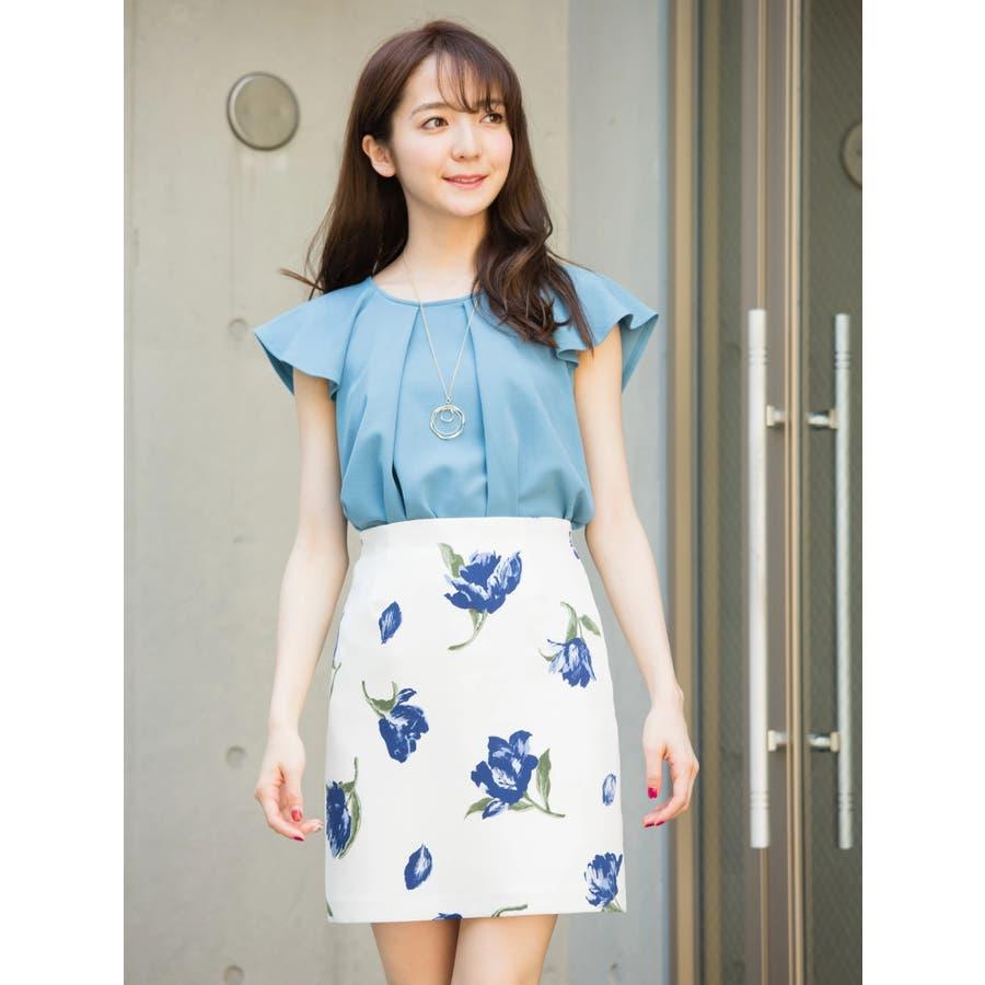 花柄タイトスカート 1