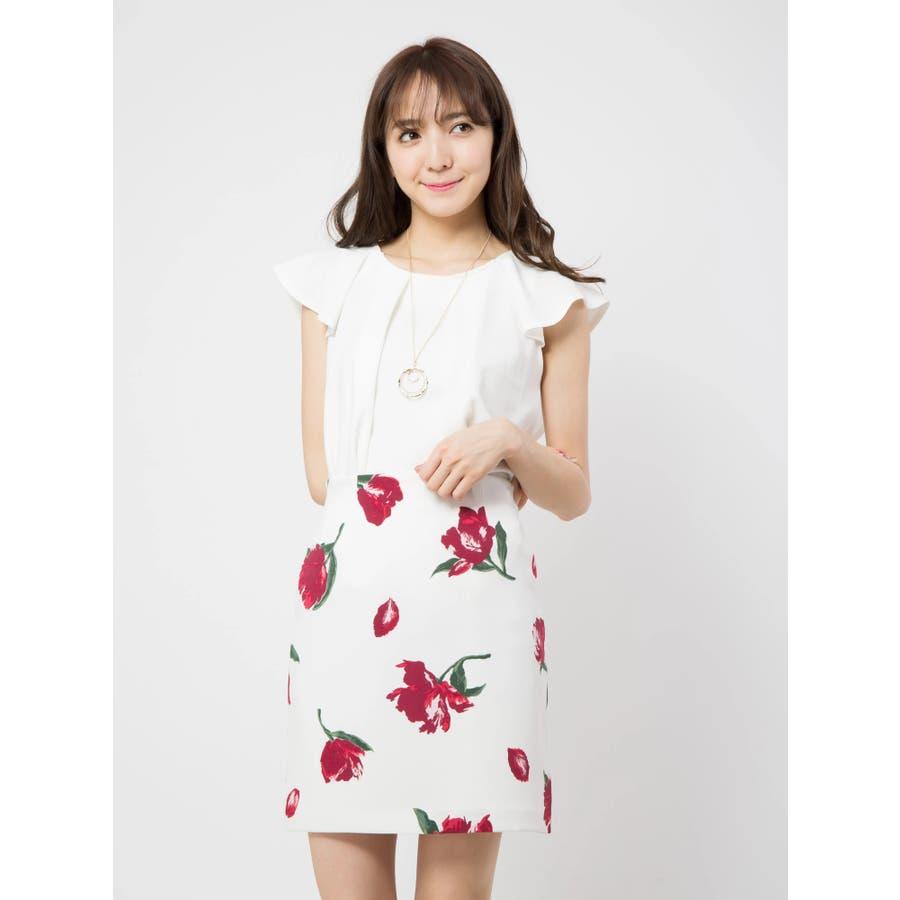 花柄タイトスカート 94