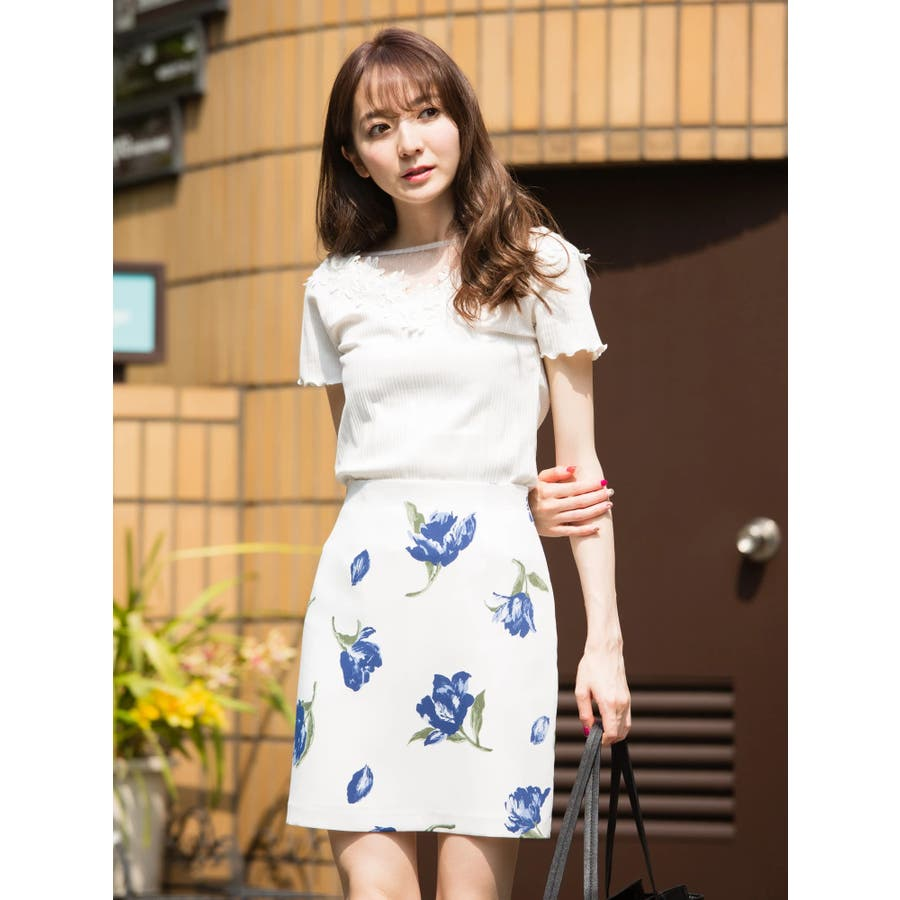 花柄タイトスカート 59