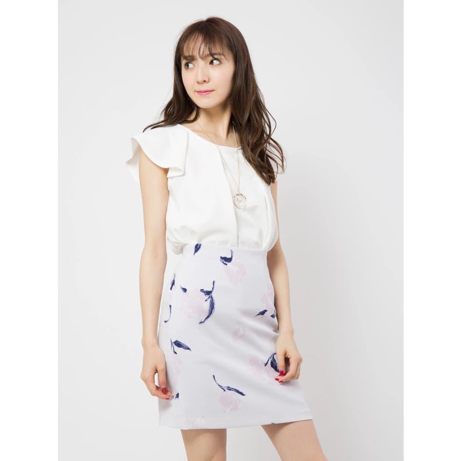 花柄タイトスカート 80
