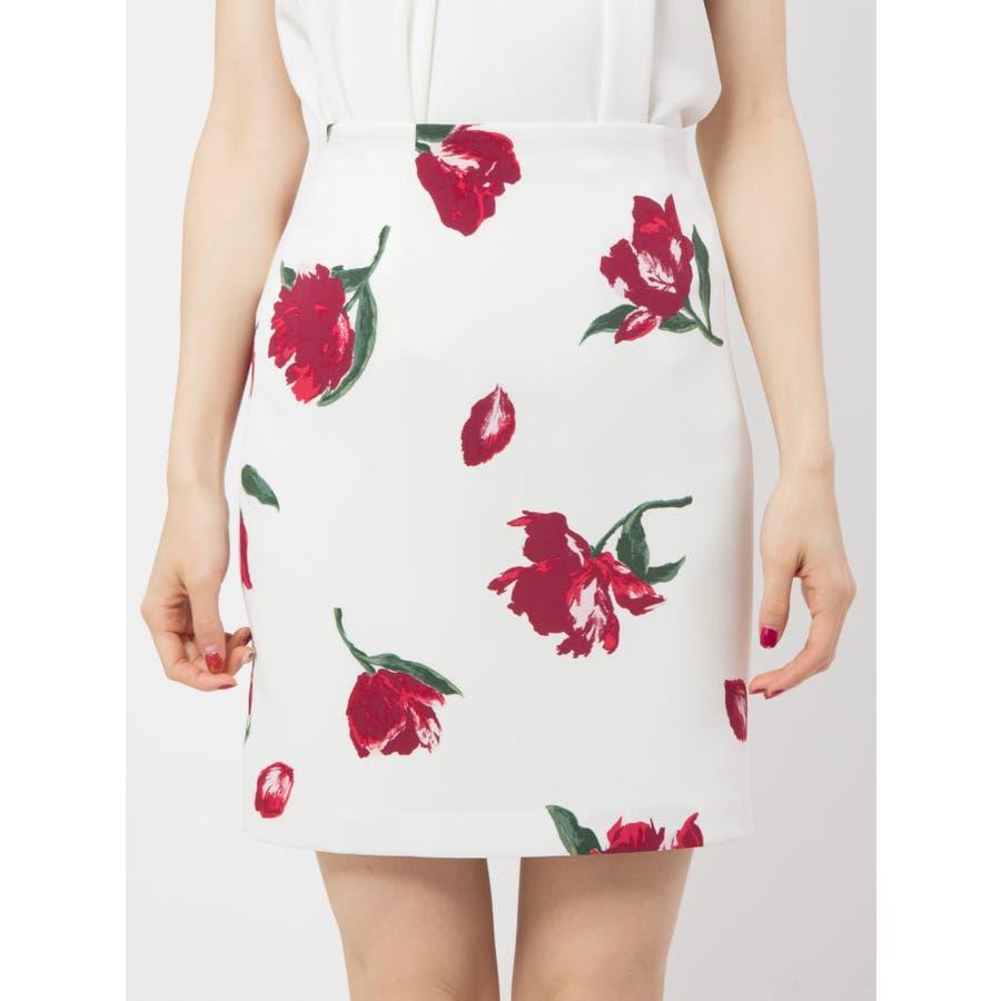 花柄タイトスカート 2