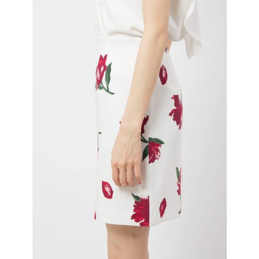 花柄タイトスカート 3