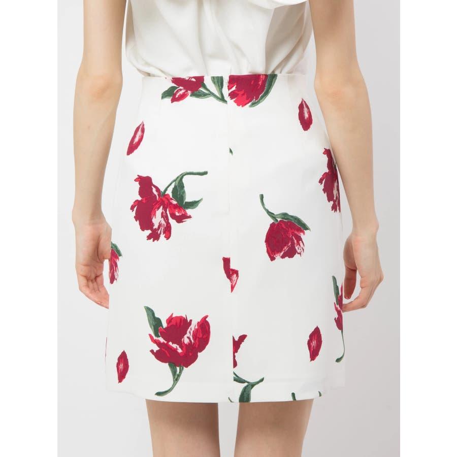 花柄タイトスカート 4