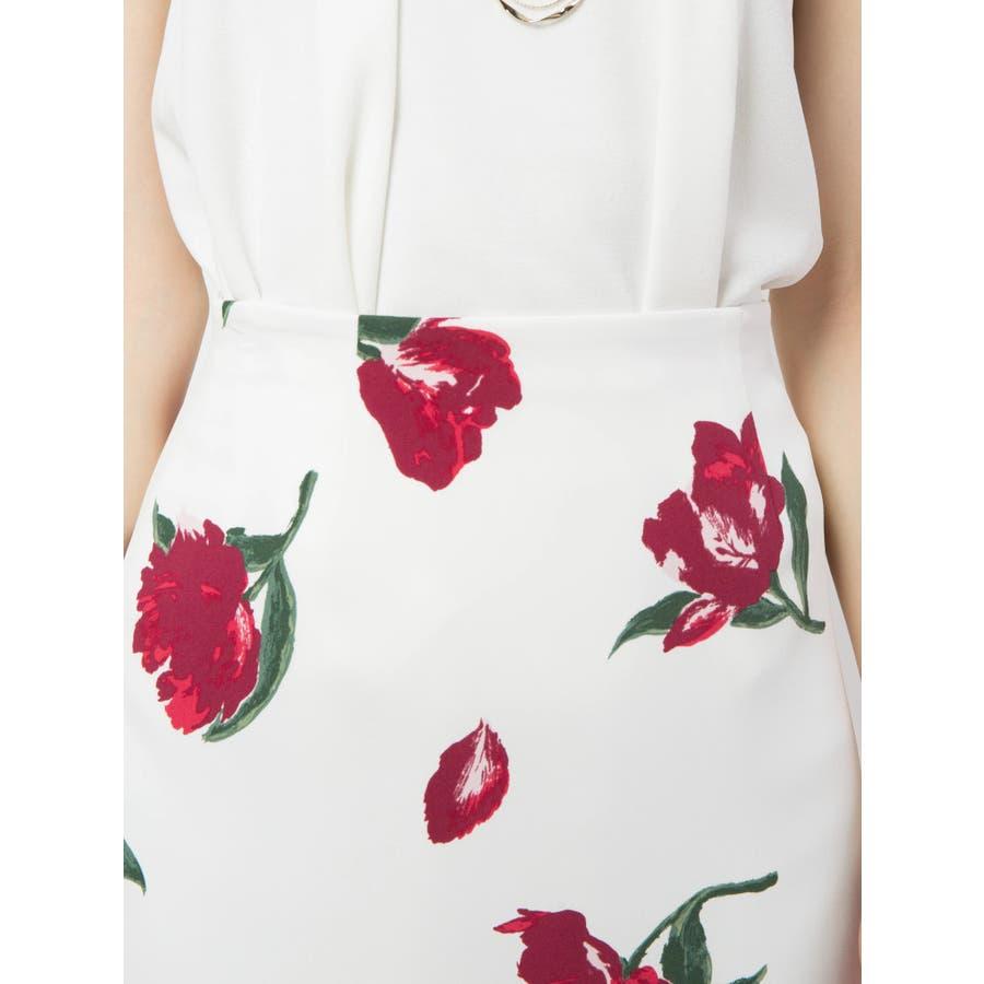 花柄タイトスカート 5