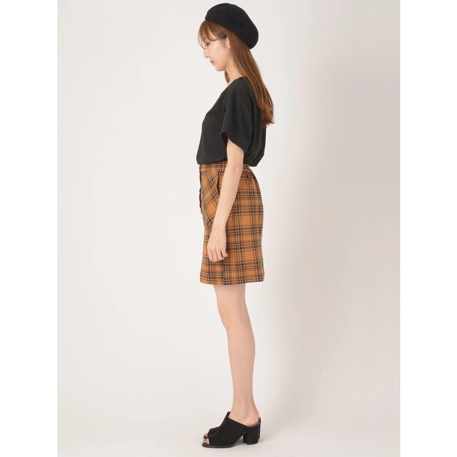 前ボタンタイトスカート 3