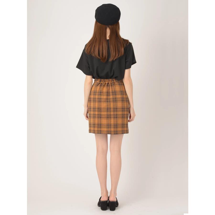 前ボタンタイトスカート 4