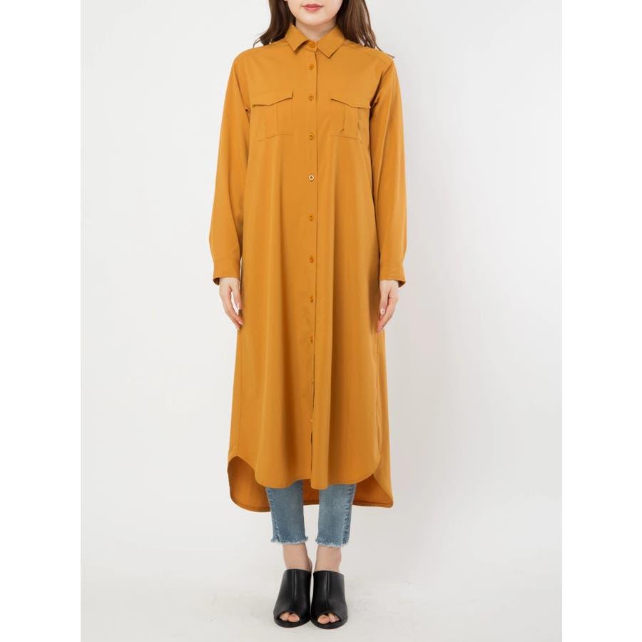 ロングシャツ羽織 2