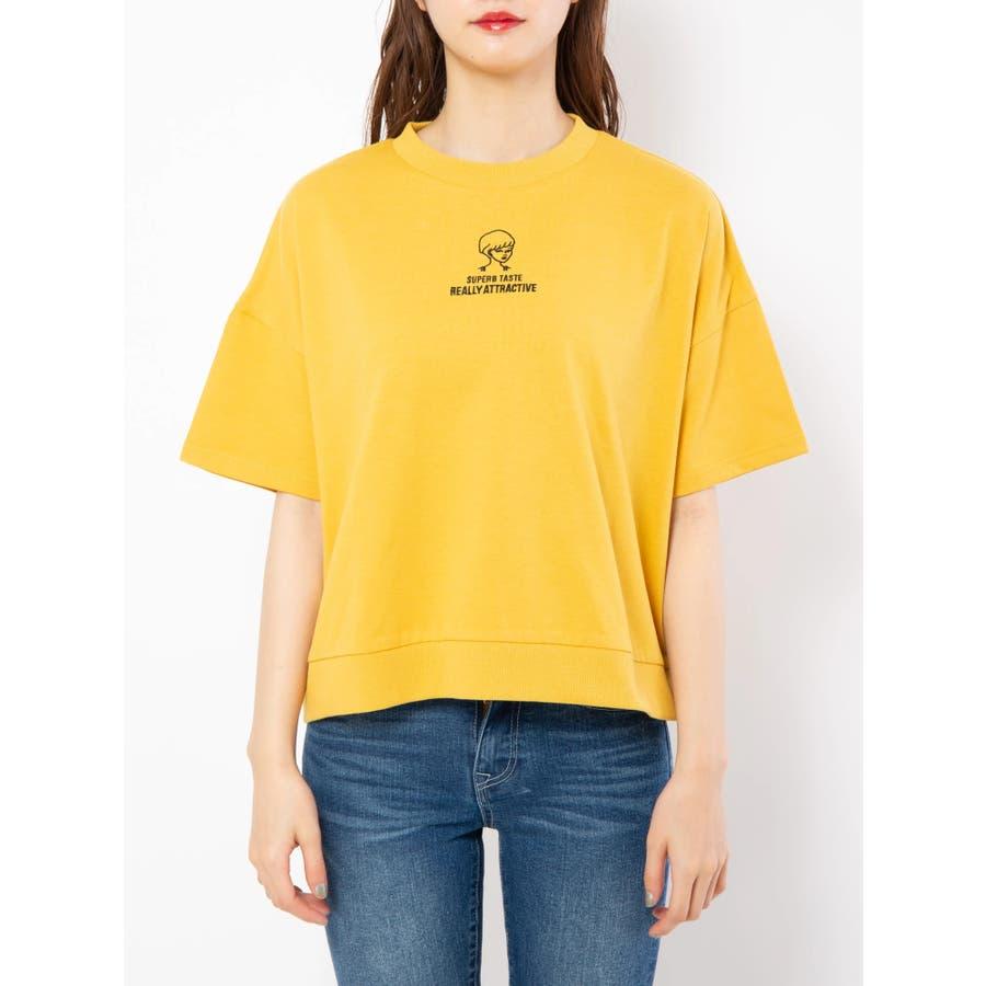 ハイネック刺繍Tシャツ 2