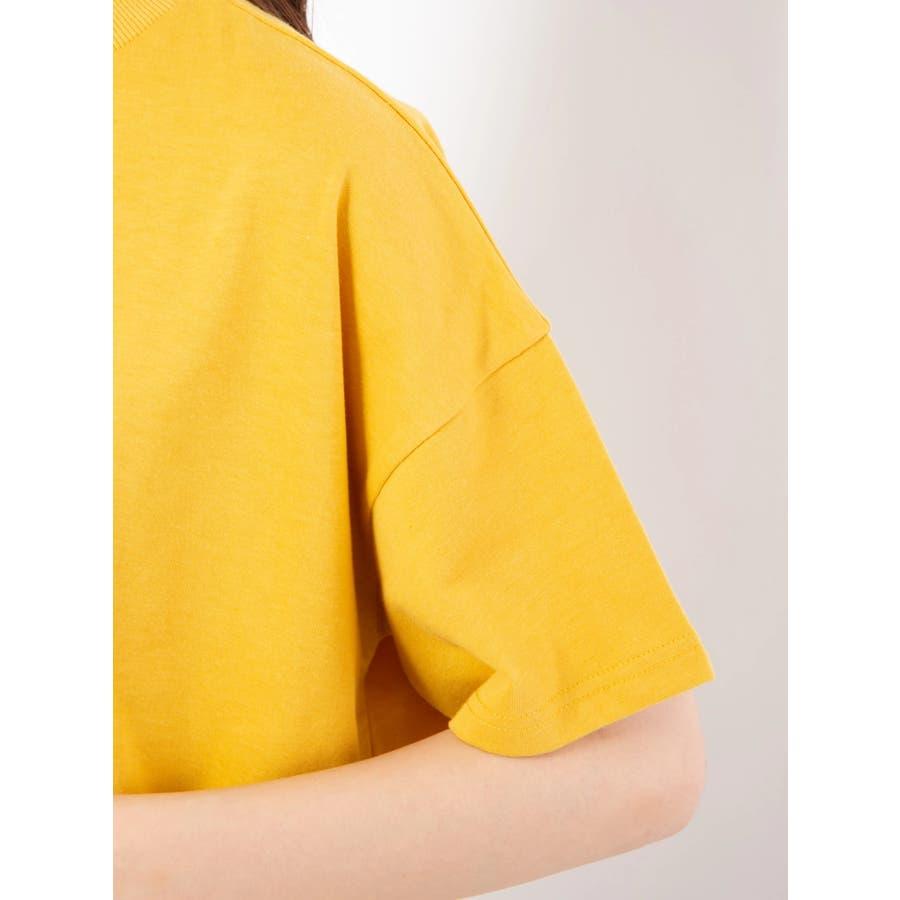 ハイネック刺繍Tシャツ 6