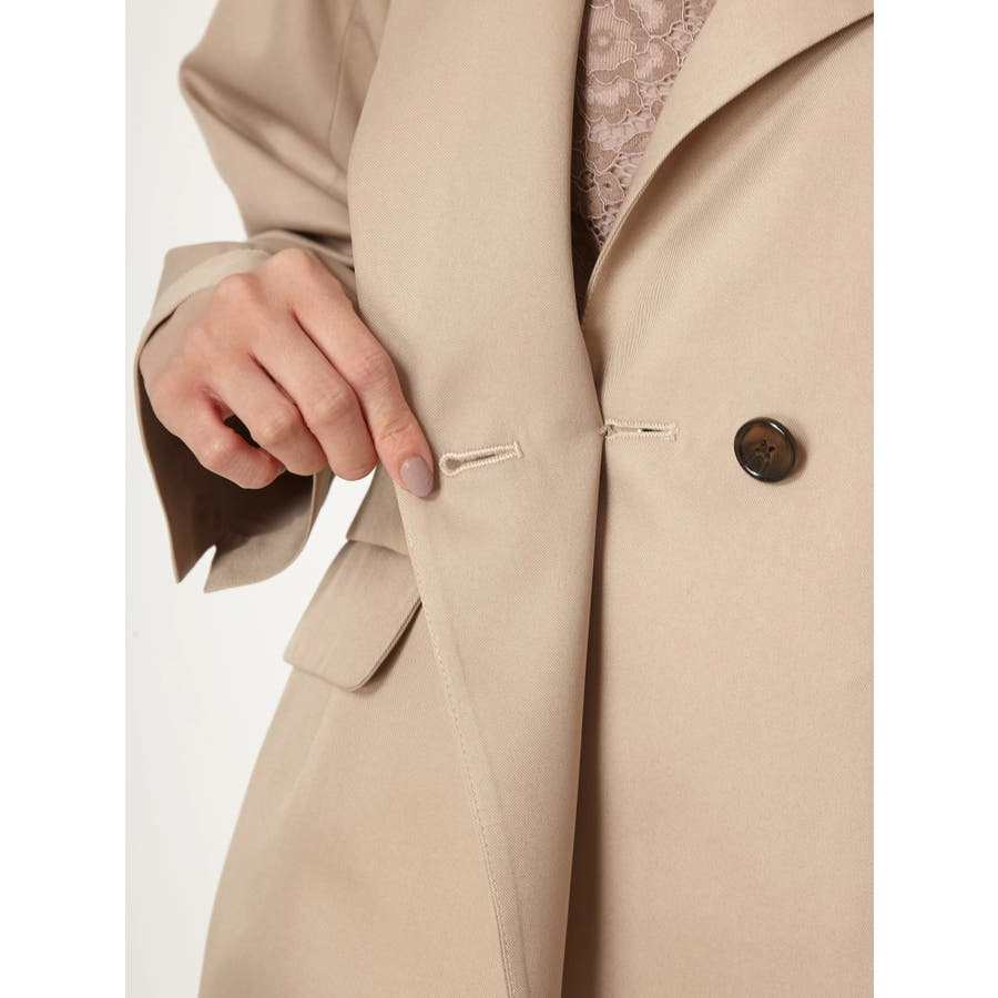 ベルト付きラペルカラーゆるジャケット 8