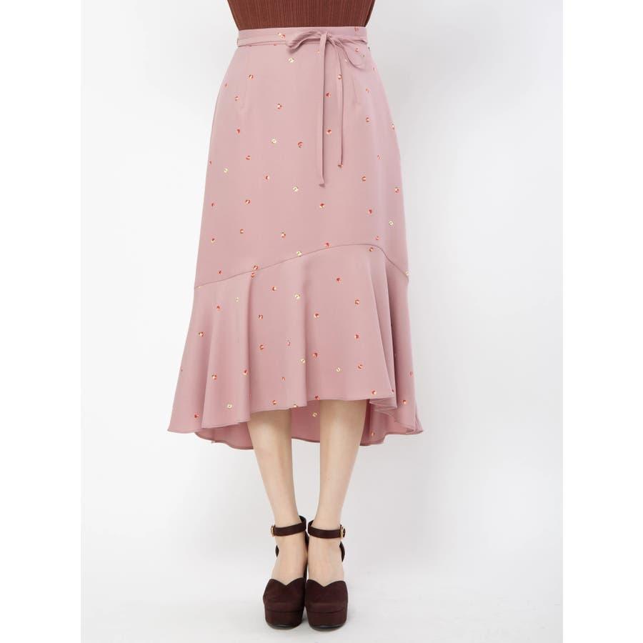 アップルプリントロングスカート 2
