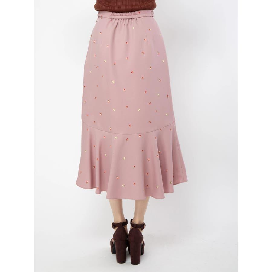アップルプリントロングスカート 4