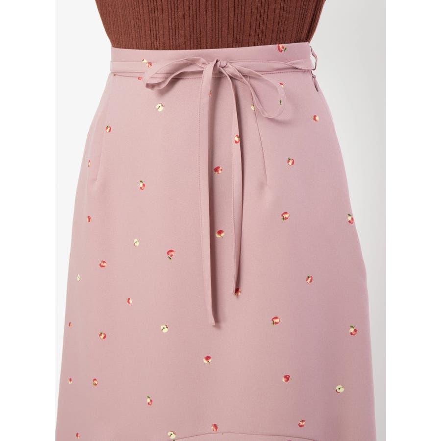 アップルプリントロングスカート 5