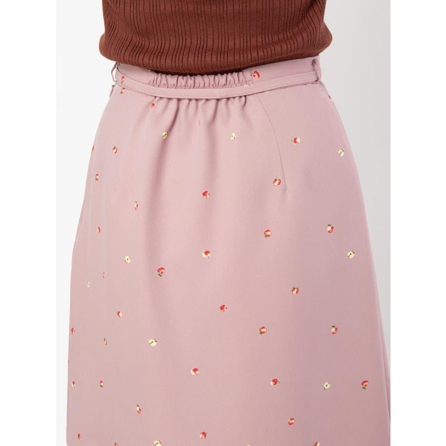 アップルプリントロングスカート 7
