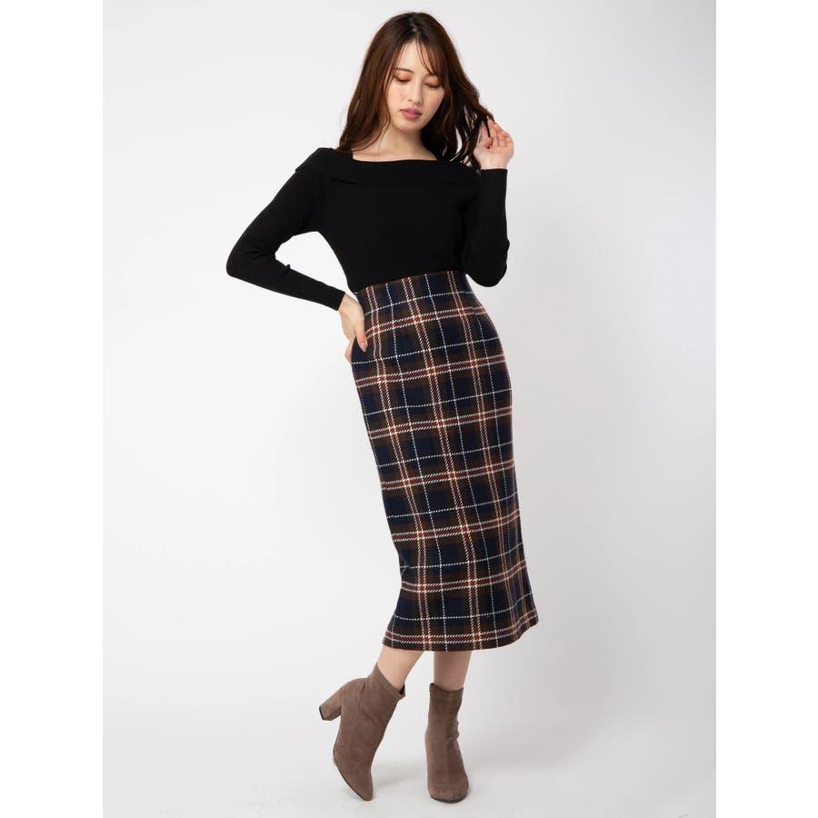 チェックタイトスカート 1