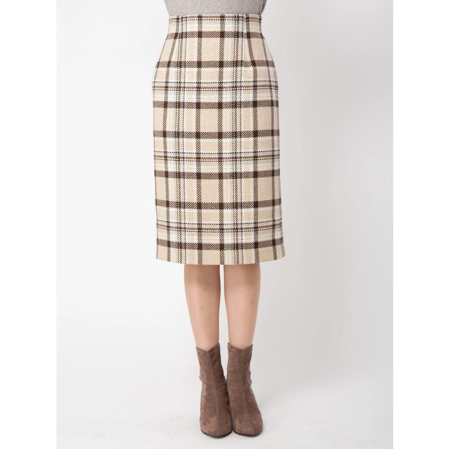 チェックタイトスカート 2
